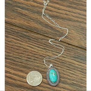 Boujee Boutique Jewelry - Sterling Silver  Necklace with Natural Turquoise